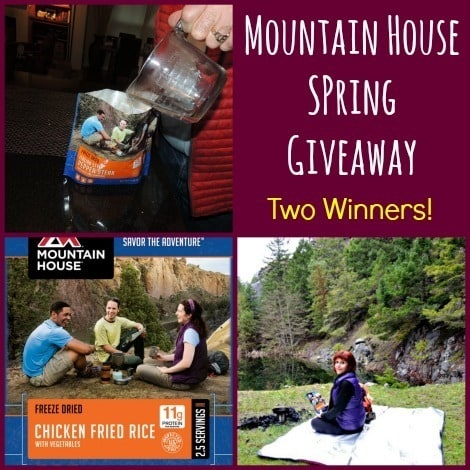 Mountain House Spring Giveaway - Backdoor Survival