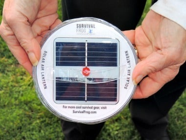 Solar Air Lantern  Charging Panel - Backdoor Survival
