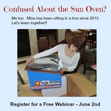 Backdoor Survival Sun Oven Online Event June 2nd