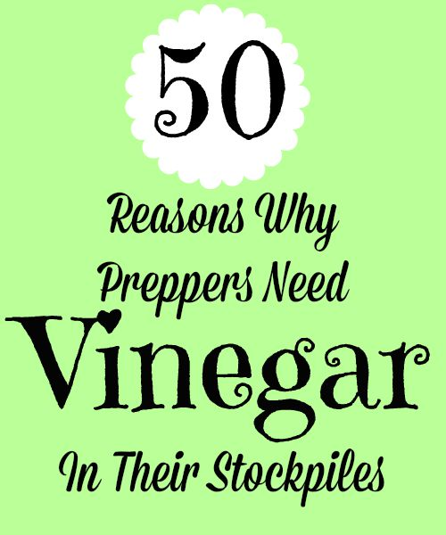 50 Reasons Why Preppers Need Vinegar in Their Stockpiles | Backdoor Survival