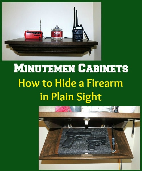 Minutemen Cabinets How to Hide a Firearm in Plain Sight | Backdoor Survival