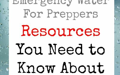 Emergency Water For Preppers: Resources You Need to Know About