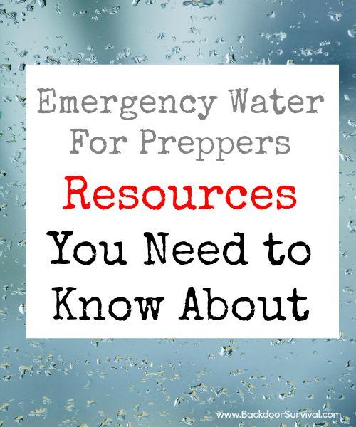 Emergency Water Resources | Backdoor Survival