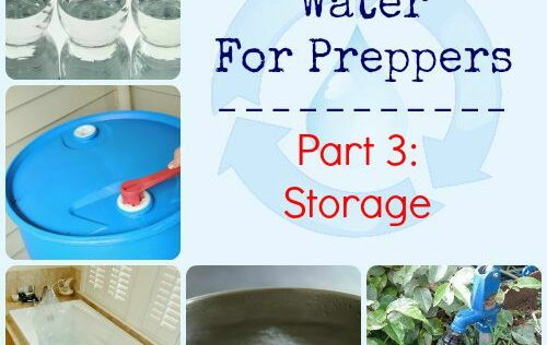 Emergency Water for Preppers Part 3: Storage