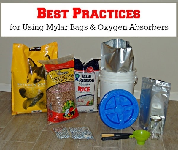 Best Practices for Using Mylar Bags & Oxygen Absorbers | Backdoor Survival
