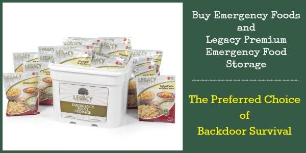 Buy Emergency Foods Preferred by Backdoor Survival