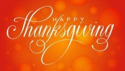 A Message of Thanks On Thanksgiving Day