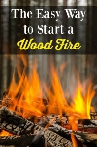 Easy Way to Start a Wood Fire   Backdoor Survival