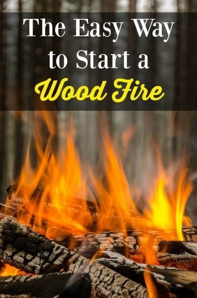 The Easy Way to Start a Wood Fire | Backdoor Survival