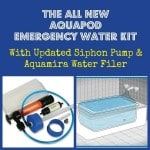 All-New AquaPod Emergency Water Kit and Filter + Giveaway