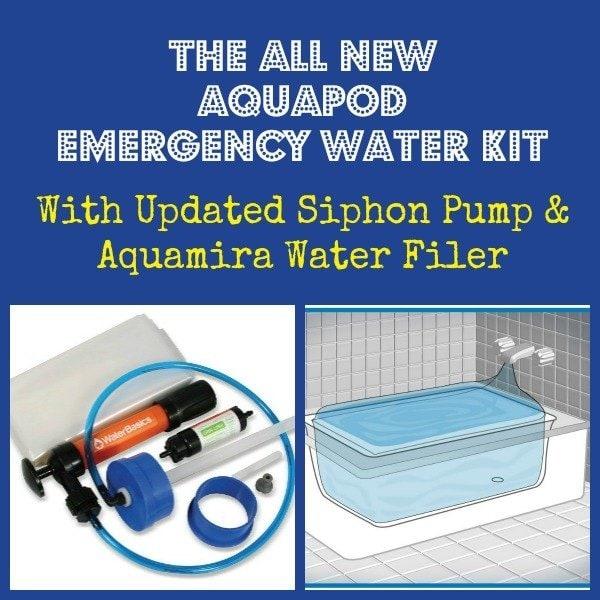 All New AquaPod Emergency Water Kit | Backdoor Survival