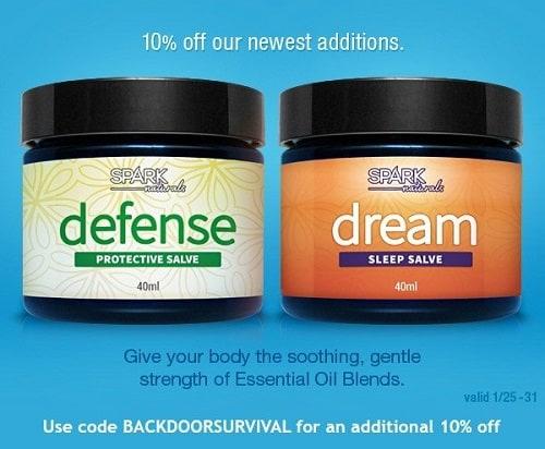 Spark Naturals New Salves | Backdoor Survival