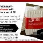 Store Water With LifeStack Storage Containers + Giveaway