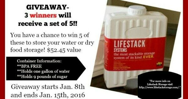 Store Water With LifeStack Storage Containers