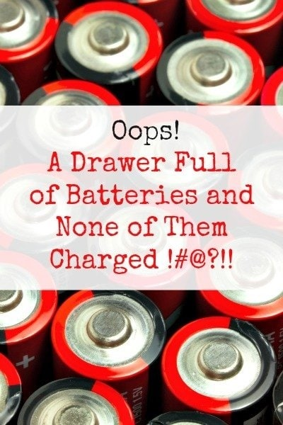 Drawer Full of Batteries and None of Them Charged | Backdoor Survival