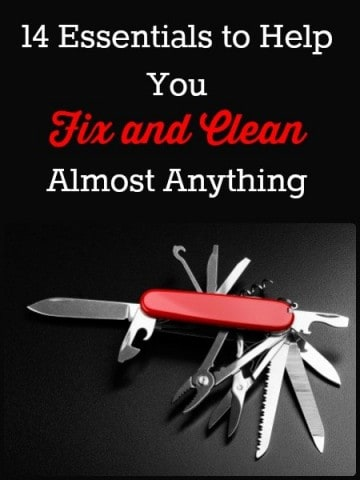 14 Essentials to Help You Fix and Clean Almost Anything
