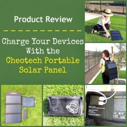 Charge Your Devices With the Choetech Portable Solar Panel