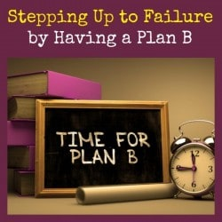 Survival Buzz: Stepping Up to Failure by Having a Plan B