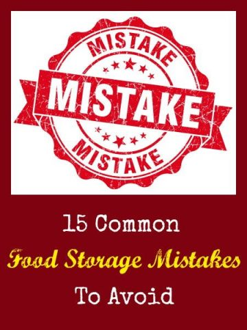 15 Common Food Storage Mistakes To Avoid