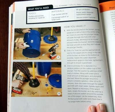 DIY Manual Washing Machine   5 Gallon Bucket Book