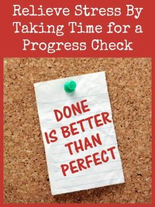 Relieve Stress By Taking Time for a Progress Check   Backdoor Survival