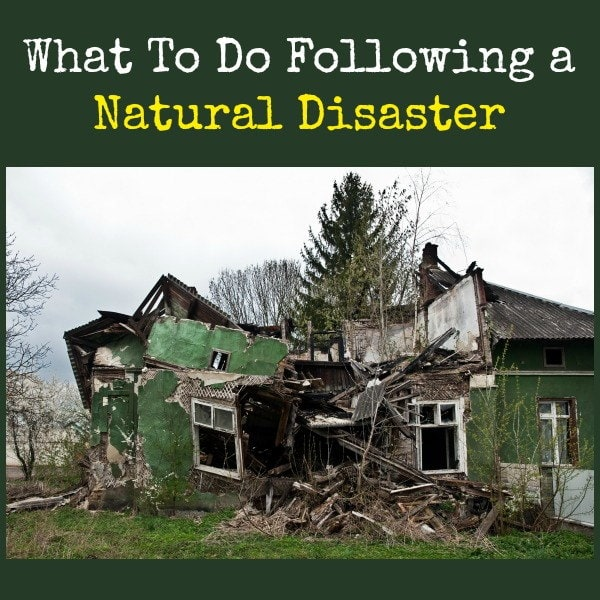 What To Do Following a Natural Disaster | Backdoor Survival