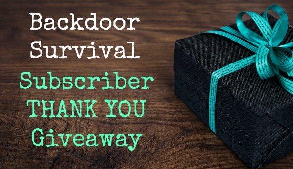 Subscriber Thank You | Backdoor Survival