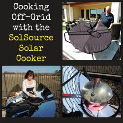 Cooking Off-Grid with the SolSource Solar Cooker + Giveaway