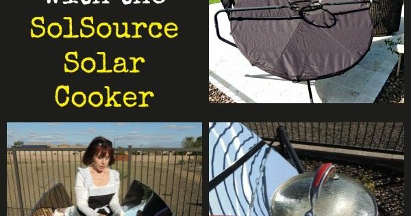 Cooking Off-Grid with the SolSource Solar Cooker