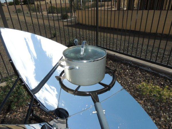 SolSource Pot of Water & Alignment Mirror | Backdoor Survival