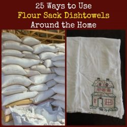 25 Ways to Use Flour Sack Dishtowels Around the Home