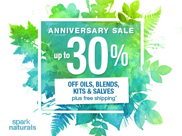 Spark Naturals Anniversary Sale | Backdoor Survival