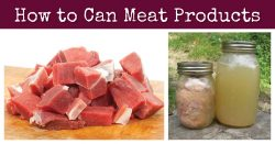 How To Can Meat Products