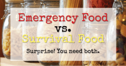 Emergency Food vs Survival Food — Surprise! You Need Both