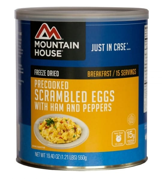 Mountain House Scrambled Eggs with Ham and Red Peppers