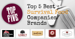 Top 5 Best Survival Food Brands and Companies