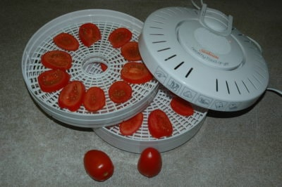 Tomatoes in a Food Dehydrator