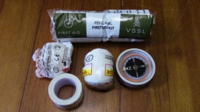 Full contents of the First-aid Canister