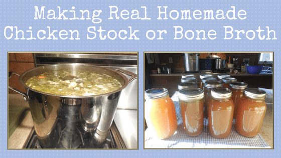 Making Real Homemade Chicken Stock or Bone Broth