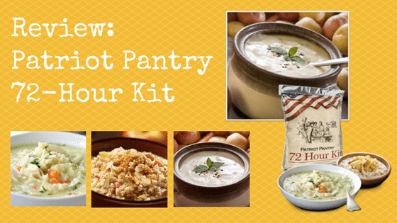 Review: Patriot Pantry 72-Hour Kit