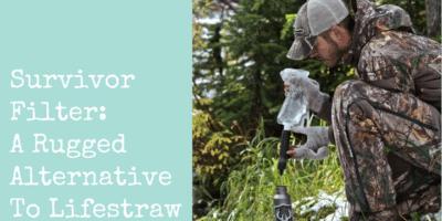 Survivor Filter: A Rugged Alternative To Lifestraw