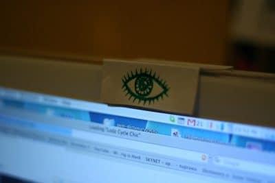webcam eye watching