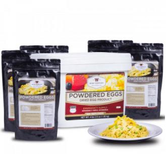 wide food powdered eggs prepper