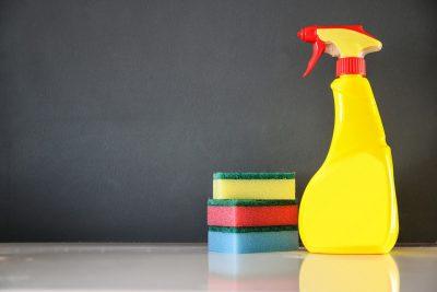spray bottle sponge clean
