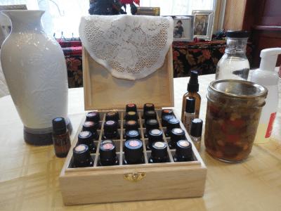 essential oils in a box