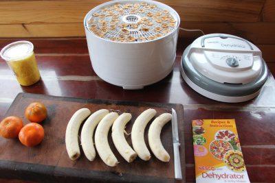 drying food dehydrator food prepping fruit banana orange