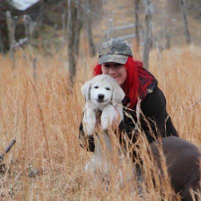 puppy samantha cuddle white