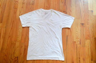 tshirt on table wood white