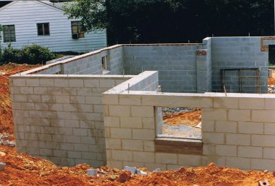 cinder blocks walls house