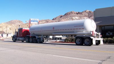 gas truck big delivery